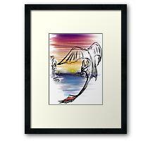 Toothless Sunset Framed Print