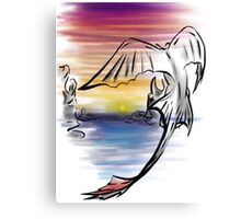 Toothless Sunset Canvas Print
