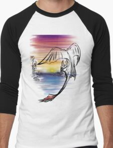Toothless Sunset Men's Baseball ¾ T-Shirt