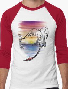 Toothless Sunset Men's Baseball ¾ T-Shirt