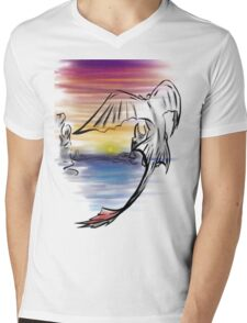 Toothless Sunset Mens V-Neck T-Shirt