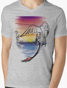 Toothless Sunset Mens V-Neck T-Shirt