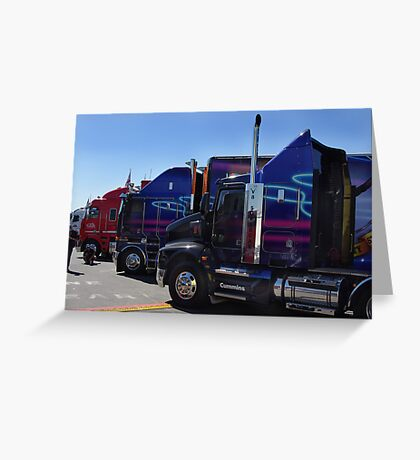 Big Rigs of Supercars Greeting Card