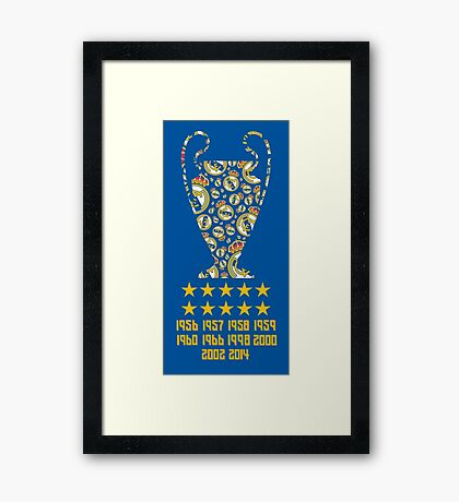 Real Madrid - Champions League Winners Framed Print