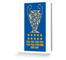 Real Madrid - Champions League Winners Greeting Card