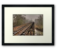 Track to some where Framed Print