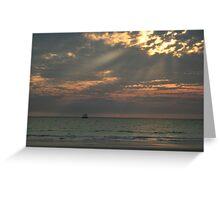 Sailing at Sunset II Greeting Card