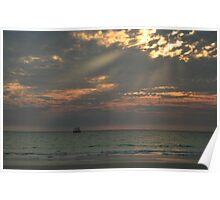 Sailing at Sunset II Poster