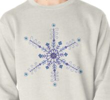 "Whimsical Blue Snowflake ""Eileen"" Pullover"