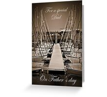 Sailboats In Tayport Harbour,Scotland. In Sepia (Card) Greeting Card