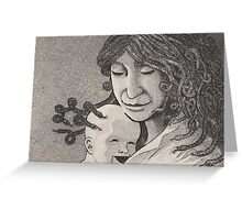 Medusa and child Greeting Card