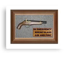 Emergency Flintlock Pistol Canvas Print