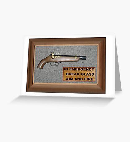 Emergency Flintlock Pistol Greeting Card