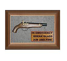 Emergency Flintlock Pistol Photographic Print
