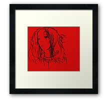 The girl who watches Framed Print