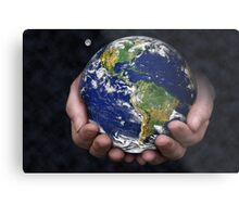 Holding the Earth Metal Print