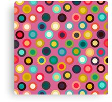 pink pop spot Canvas Print