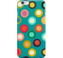 turquoise pop spot iPhone Case/Skin