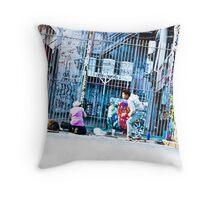 Melbourne street artists Throw Pillow