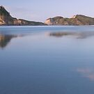 Wharariki beach pano by Paul Mercer
