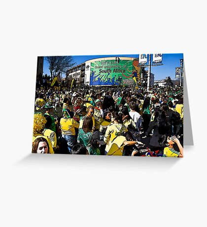 World Cup Soccer Fever Grips Sandton Greeting Card