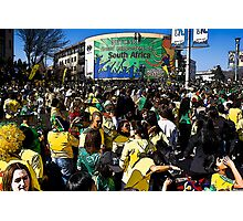World Cup Soccer Fever Grips Sandton Photographic Print