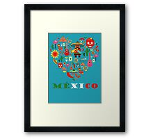 LOVE MEXICO Framed Print