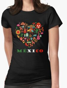 LOVE MEXICO Womens Fitted T-Shirt