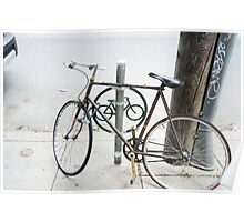 bike rack south st-philadelphia Poster