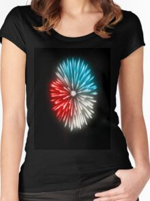 The Flash of Freedom Women's Fitted Scoop T-Shirt