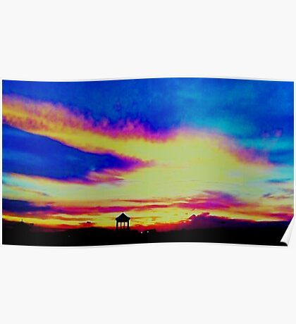 Rooftop Dream Clouds Poster