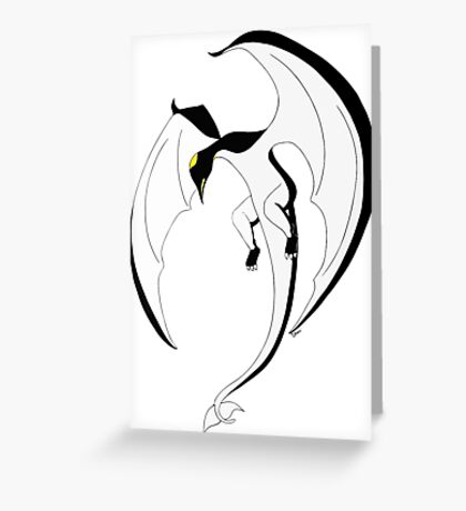 The Penguin-Dragon (Second evolution) Greeting Card