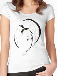 The Penguin-Dragon (Second evolution) Women's Fitted Scoop T-Shirt