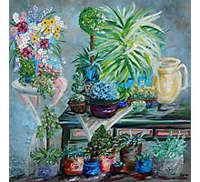 Table of a Plant Lover Photographic Print