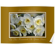 Congratulations On The Renewal Of Your Vows Poster
