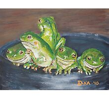 Froggy Friends Photographic Print