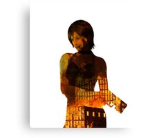 The Bad A$$, flaming Ada Wong Canvas Print