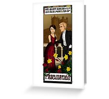 Downton Nouveau Greeting Card