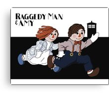 Raggedy Man and Amy Canvas Print