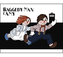 Raggedy Man and Amy Photographic Print
