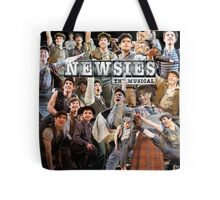 Newsies on Broadway photo collage Tote Bag