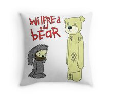 wilfred and bear Throw Pillow