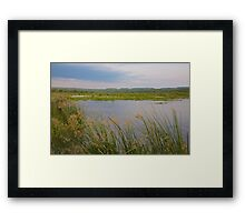 home of the Sandle Bill Stork Framed Print