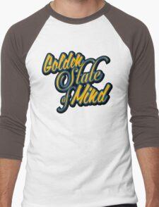 Golden State of Mind Script Men's Baseball ¾ T-Shirt