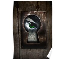 There's a Monster in My Closet! (green eye) Poster