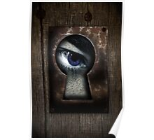 There's a Monster in My Closet! (blue eye) Poster
