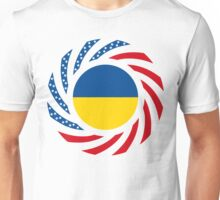 Ukrainian American Multinational Patriot Flag Series Unisex T-Shirt