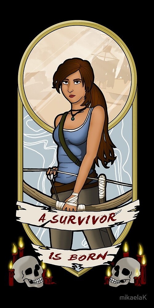 Tomb Raider Art Nouveau by mikaelaK