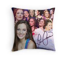 Laura Osnes collage Throw Pillow