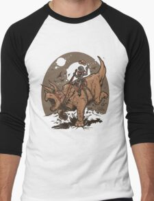 Triceratops CowBot Men's Baseball ¾ T-Shirt